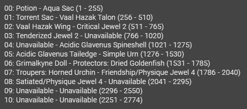 mhwMOD説明all items